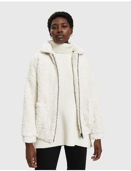 Vivienne Faux Sheepskin Jacket In Ivory by Farrow