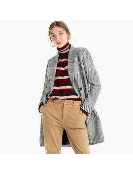 Petite Daphne Topcoat In Glen Plaid by J.Crew