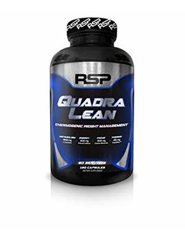Rsp Quadra Lean Thermogenic Fat Burner For Men & Women, Weight Loss Supplement, Crash Free Energy, Metabolism Booster & Appetite Suppressant, Diet Pills, 60 Servings by Rsp Nutrition