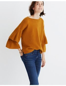 Tier Sleeve Pullover Sweater In Coziest Yarn by Madewell