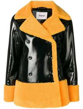 Standdouble Breasted Shearling Jacket Home Women Stand Clothing Fur & Shearling Jackets by Stand