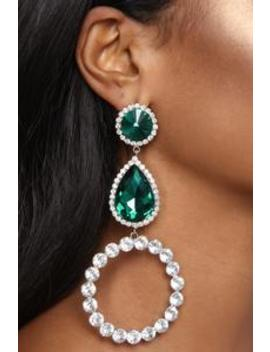 Just A Small Function Earrings   Emerald by Fashion Nova