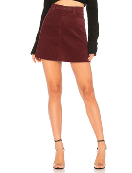 High Rise Corduroy Skirt by Blanknyc