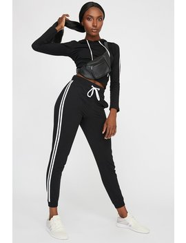 Side Stripe Drawstring Jogger by Urban Planet