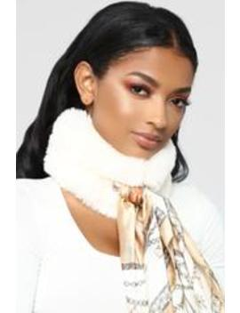 Her Mess Fur Scarf   Ivory by Fashion Nova