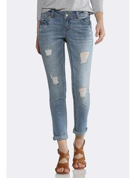 Pearl Embellished Skinny Jeans by Cato