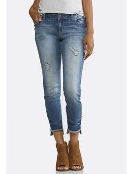 Distressed Step Hem Jeans by Cato