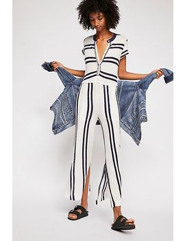 Stand By Striped Jumpsuit by Free People