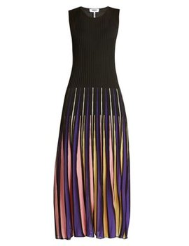 Pleated Knit Dress by Msgm