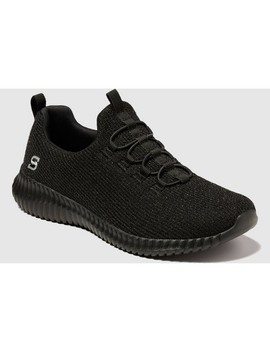 Women's Charlize Knit Pull On Sneakers   S Sport Black by S Sport By Skechers