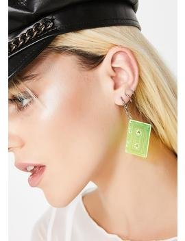 Press Play Cassette Earrings by Ana Accessories