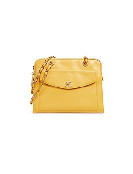 Chanel Caviar Pocket Tote Bag by What Goes Around Comes Around