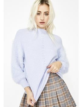 Sky Don't Hurt Yourself Fuzzy Sweater by Hello Miss