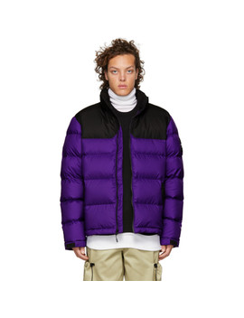 Purple & Grey Down 1992 Nuptse Jacket by The North Face