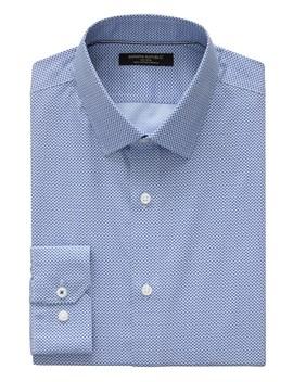 Camden Standard Fit Non Iron Print Shirt by Banana Repbulic