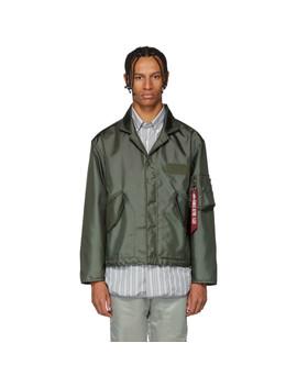 Green Alpha Cwu 45 Nomex Blazer Jacket by Landlord
