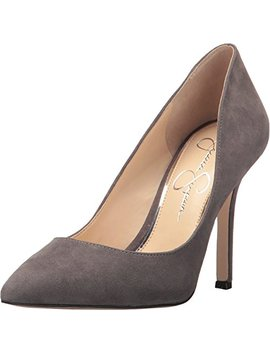 Jessica Simpson Blayke Smoke Gray Suede Pointed Toe Single Sole Stiletto Pumps by Jessica Simpson Dress
