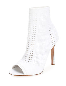 Vires Knit Open Toe Booties by Gianvito Rossi