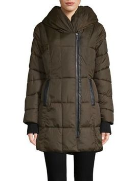 Hooded Quilted Coat by French Connection