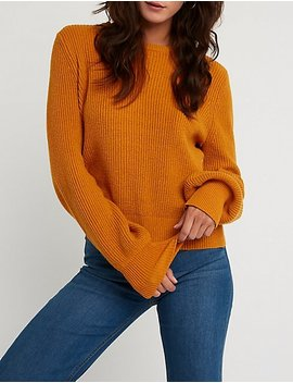 Tie Back Pullover Sweater by Charlotte Russe