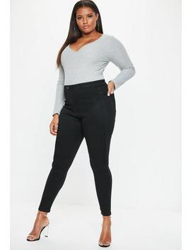 Plus Size Black High Waisted Skinny Jeans by Missguided