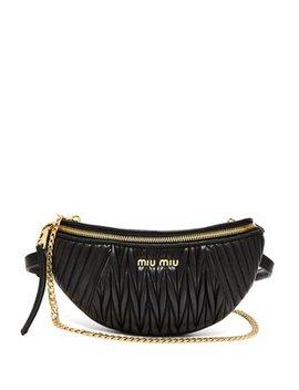 Mattelassé Quilted Leather Belt Bag by Miu Miu