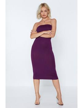 Keep It On The Bandeau Midi Dress by Nasty Gal