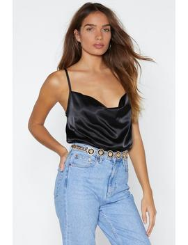Cowl About Now Satin Bodysuit by Nasty Gal