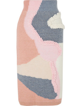 Havey Patchwork Cotton Blend Skirt by Peter Pilotto