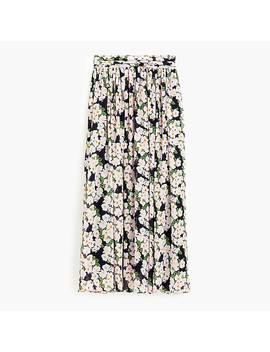 Point Sur Maxi Skirt In Crinkled French Floral by J.Crew