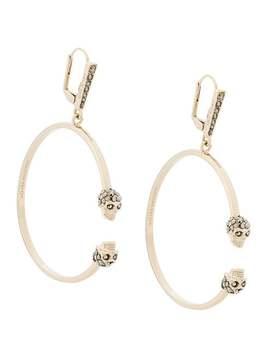 Skull Hoop Earrings by Alexander Mc Queen