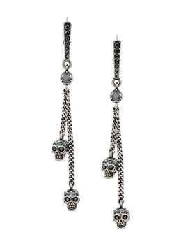 Embellished Skull Clip On Earrings by Alexander Mc Queen