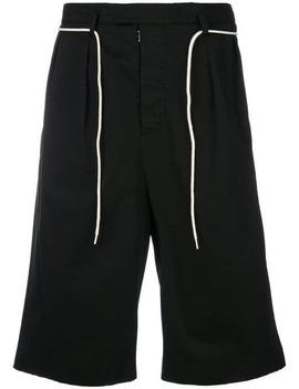 Maison Margielacontrast Trim Tailored Shortshome Men Maison Margiela Clothing Bermuda Shorts by Maison Margiela