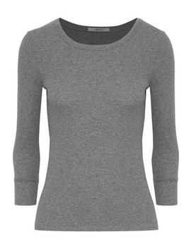 Centinela Mélange Stretch Cotton Jersey Top by J Brand