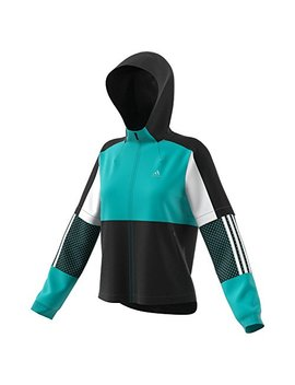 Adidas Athletics Sport Id Wind Jacket, Hi Res Aqua/Black/ White by Adidas