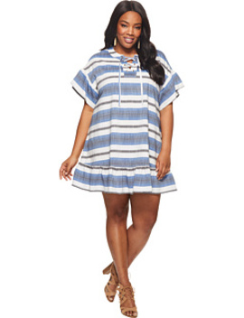Plus Size Lace Up Mini Dress by Lucky Brand