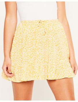 Floral Frilly Skirt by Glassons