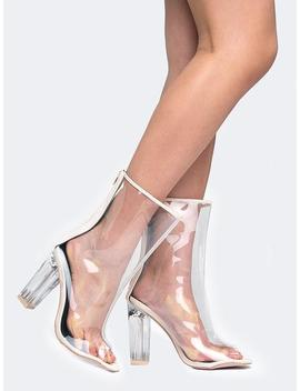 Clear Lucite Heel Sandal by Zooshoo