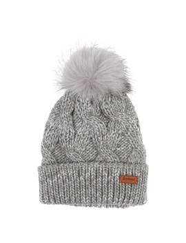 Barbour Bridport Pom Beanie Hat, Grey by Barbour