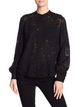Walter Floral Burnout Blouse by A.L.C.