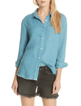 Soft Pocket Linen Shirt by Frame