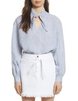 Stripe Handkerchief Blouse by Frame