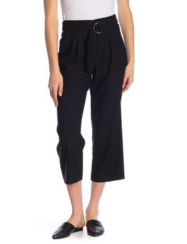 Pleated Wool Cropped Pants by Frame Denim