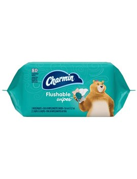 Charmin Flushable Wipes, 80 Count Per Pack by Charmin