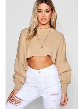 Petite Oversized Boxy Sleeve Jumper by Boohoo
