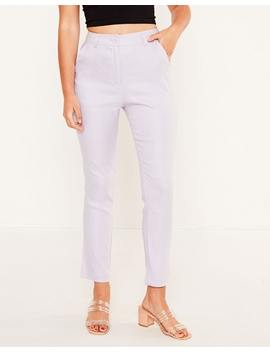 Skinny Fit Stretch Linen Pant by Glassons