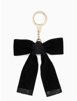 Velvet Bow Keychain by Kate Spade