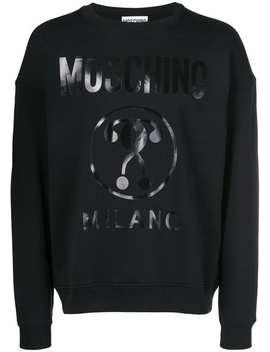 Moschinologo Printed Sweatshirthome Men Moschino Clothing Sweatshirts by Moschino