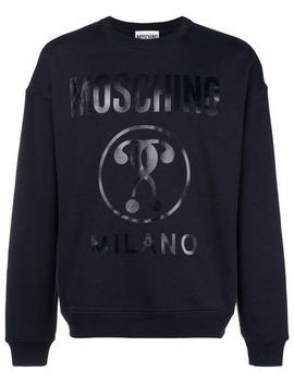 Moschinoprinted Logo Sweatshirthome Men Moschino Clothing Sweatshirts by Moschino