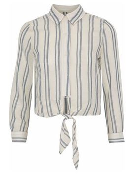 Tie Front Striped Cotton Gauze Shirt by Solid & Striped